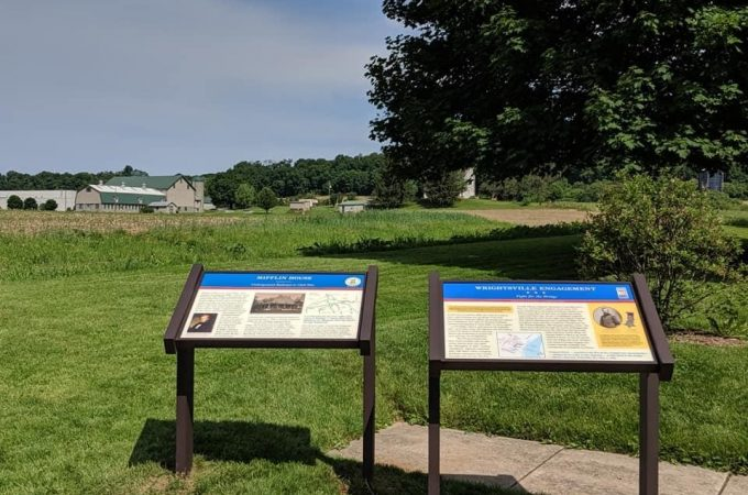 Two new Civil War Trails signs in Wrightsville