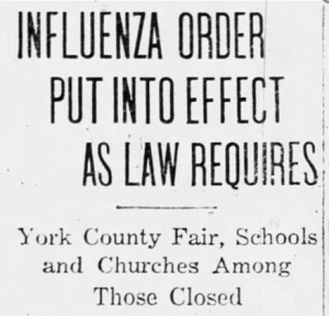 1918 Spanish Flu ravaged York, impacting Civil War veterans