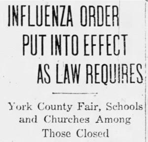 1918 Spanish Flu ravaged York, impacting Civil War veterans