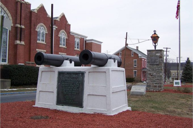 PA governor dedicated Civil War cannon at Wrightsville