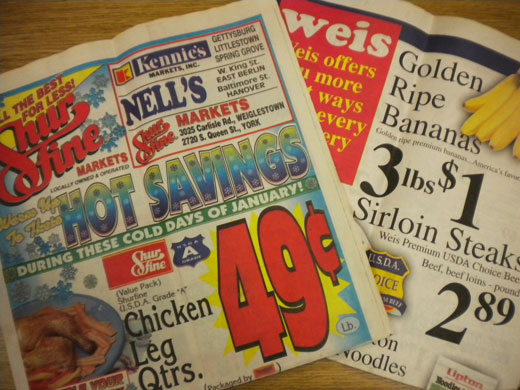 Grocery ads from 1996