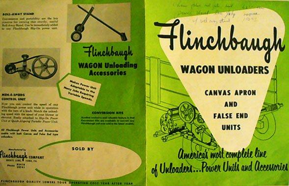 Flinchbaugh Wagon Unloaders ad