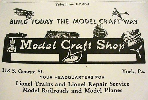 Model Craft Shop advertisement