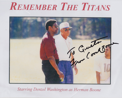 Remember the Titans autographed photo