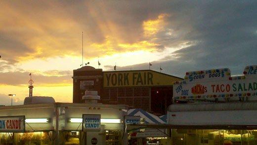 2011 York Fair sunset