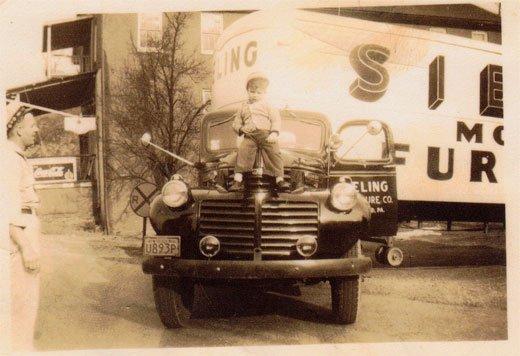 Bob on Sieling Furniture truck