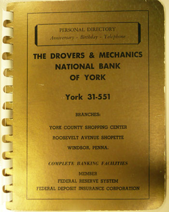 Drovers address book cover
