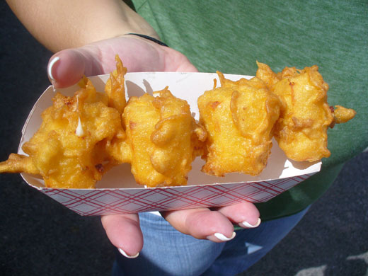 Fried cheese cubes