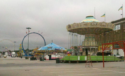 Gloomy view of the rides