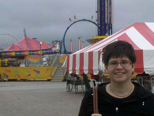 Joan at the fair, 2011