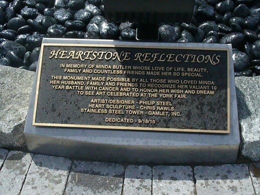 Memorial sign at the York Fair