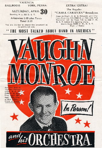 Vaughn Monroe and his Orchestra flyer