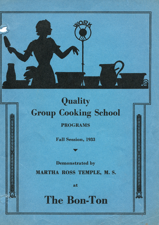 Quality Cooking School brochure cover