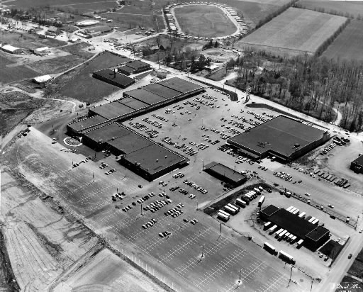 Aerial view of York County Shopping Center