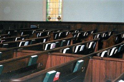 Divided church pews