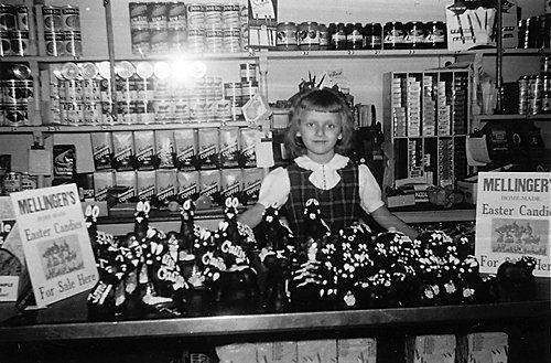 Barbara Brown at her grandparents' store