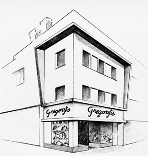 Gregory's Menswear storefront
