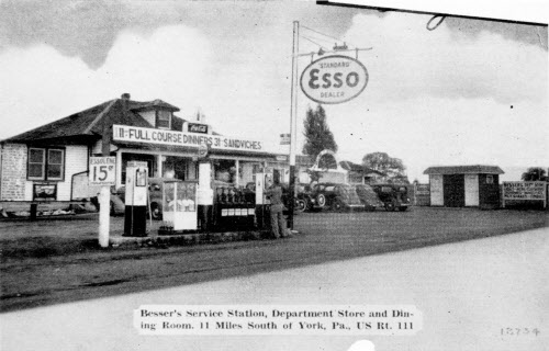 Ronald Dise shared this image from a postcard of Besser's restaurant and service station south of York.