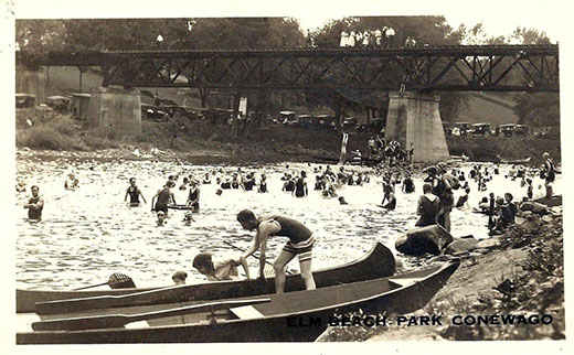 Larry R. Good shared this image of an Elm Beach Park photo card