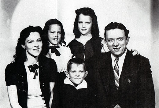 "Reader Arlamae Bolton shared this photo, on the back of which was written ""Happy Johnny and Family."""