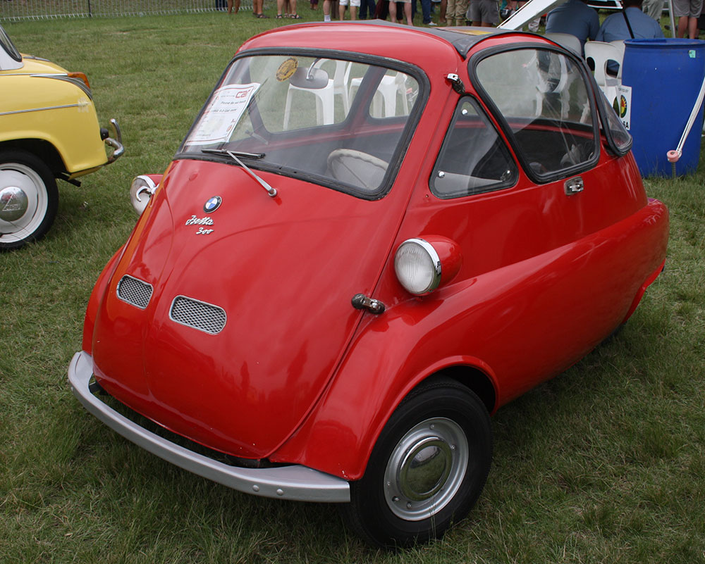 The Isetta, seen in this photo by Bob Evans, was a little car made by Italian manufacturer Iso, then by BMW, in the 1950s and early 1960s. While gas-powered, they were reported to get up to 40 miles to the gallon.