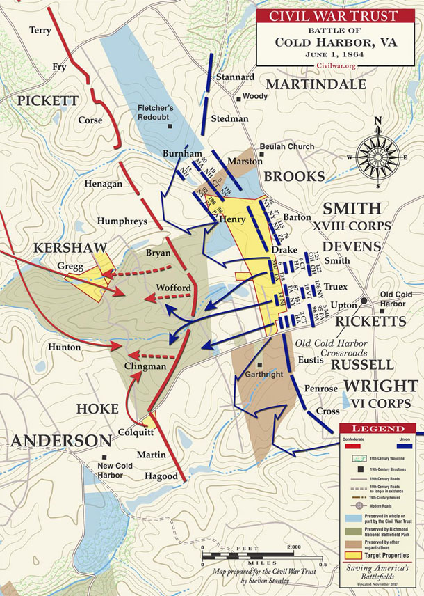 York County Union and Confederate ties to Cold Harbor