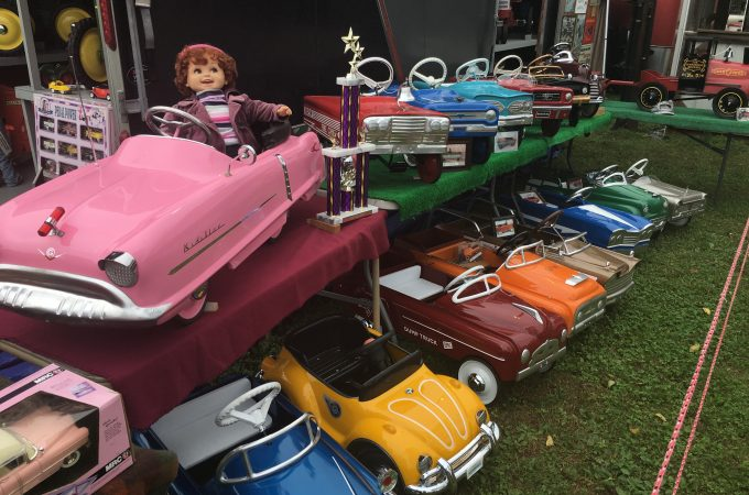 Pedal vehicles at the 2018 Steam-O-Rama this weekend in Windsor