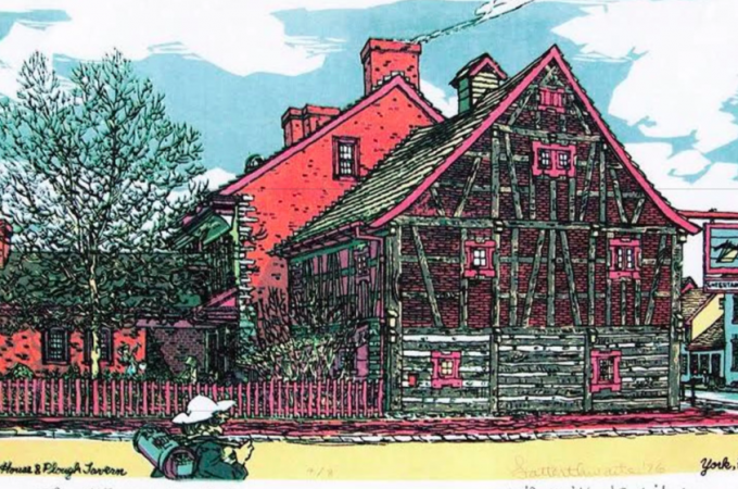 "Golden Plough Tavern's debated wooden square may be ""soul window"""