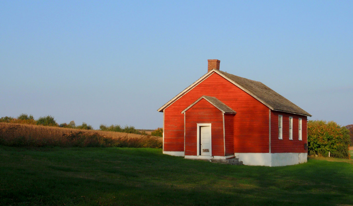 York PA history - An image of a red schoolhouse