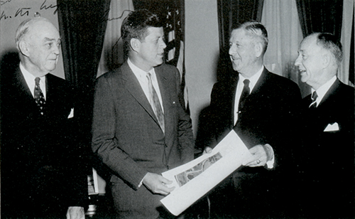 J.L. Devers with President John F. Kennedy. Photo courtesy The Historical Society of York County