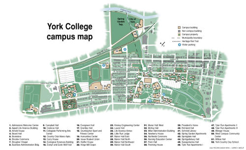 Check Out This Informative Map Of York College Of Pennsylvania S