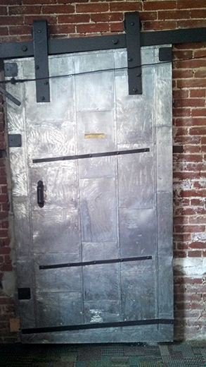 Old door at Logos Academy