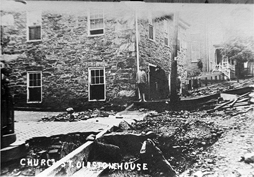 1911 flood - Glen RockChurch Street with Bamforth house.Submitted