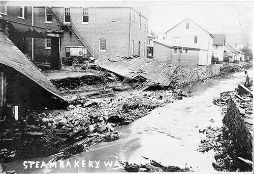 1911 flood - Glen Rock Damaged bakery on Hanover Street Submitted