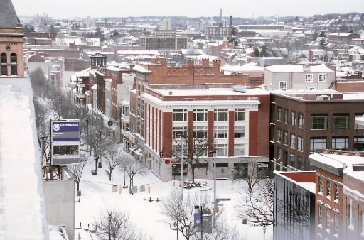York Pa S Snowy Continental Square From On High How