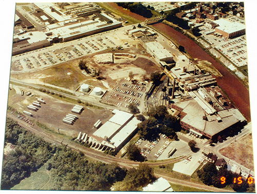 Aerial view of Schmidt & Ault Paper Company Submitted