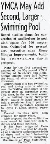 YMCA article from The Gazette and Daily, March 18, 1960.