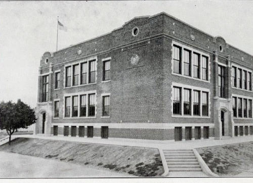 Century-old Jackson School, built on a rise, remains key