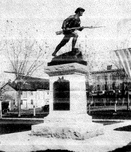 submitted World War I monument in the square in Jefferson