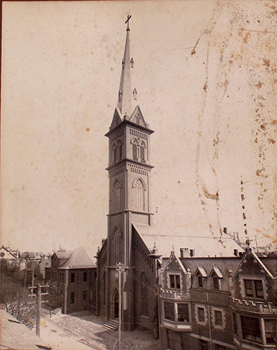 Steeple of the German Lutheran Church which is now First St. John's Evangelical Lutheran Church of York, PA. Submitted