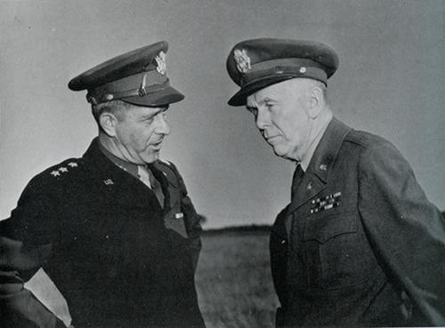 Devers with Marshall in France - 10/8/44.Photo courtesy of The Historical Society of York County