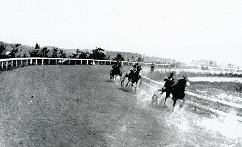 Why the Shrewsbury Trotting and Driving Association collapsed and the track closed is not fully known. Some sources cite a fatal accident on the track and the resulting decline in enthusiasm for the sport. Known as the Shrewsbury Driving Park, the track closed c. 1914. Courtesy of Bob Ketenheim's book Images of America Around Shrewsbury