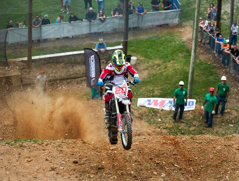 """Deryk Beaudoin, of Sandborton, NH, during the AMA Pro Racing Hill Climb sponsored by White Rose Motorcycle Club in Codorus Township  June 7, 2015  Paul Kuehnel - York Daily Record/ Sunday News"""