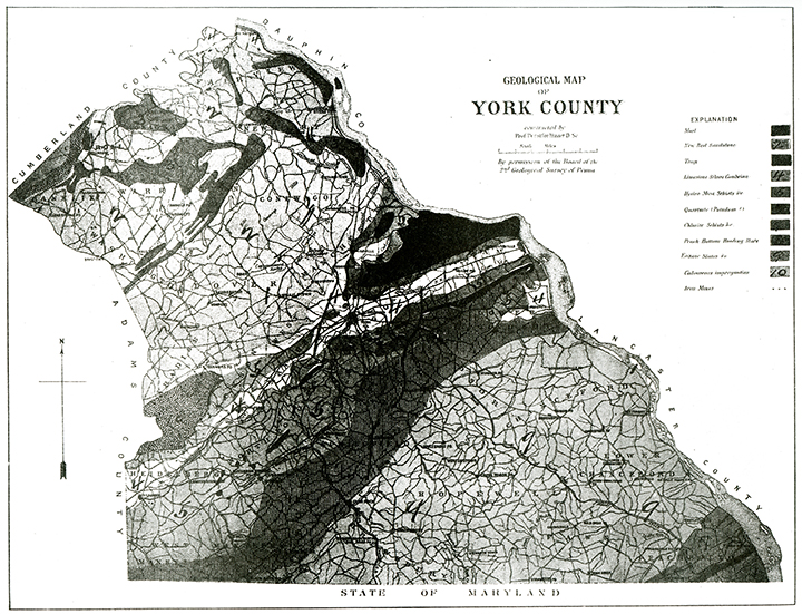Geological map of York County