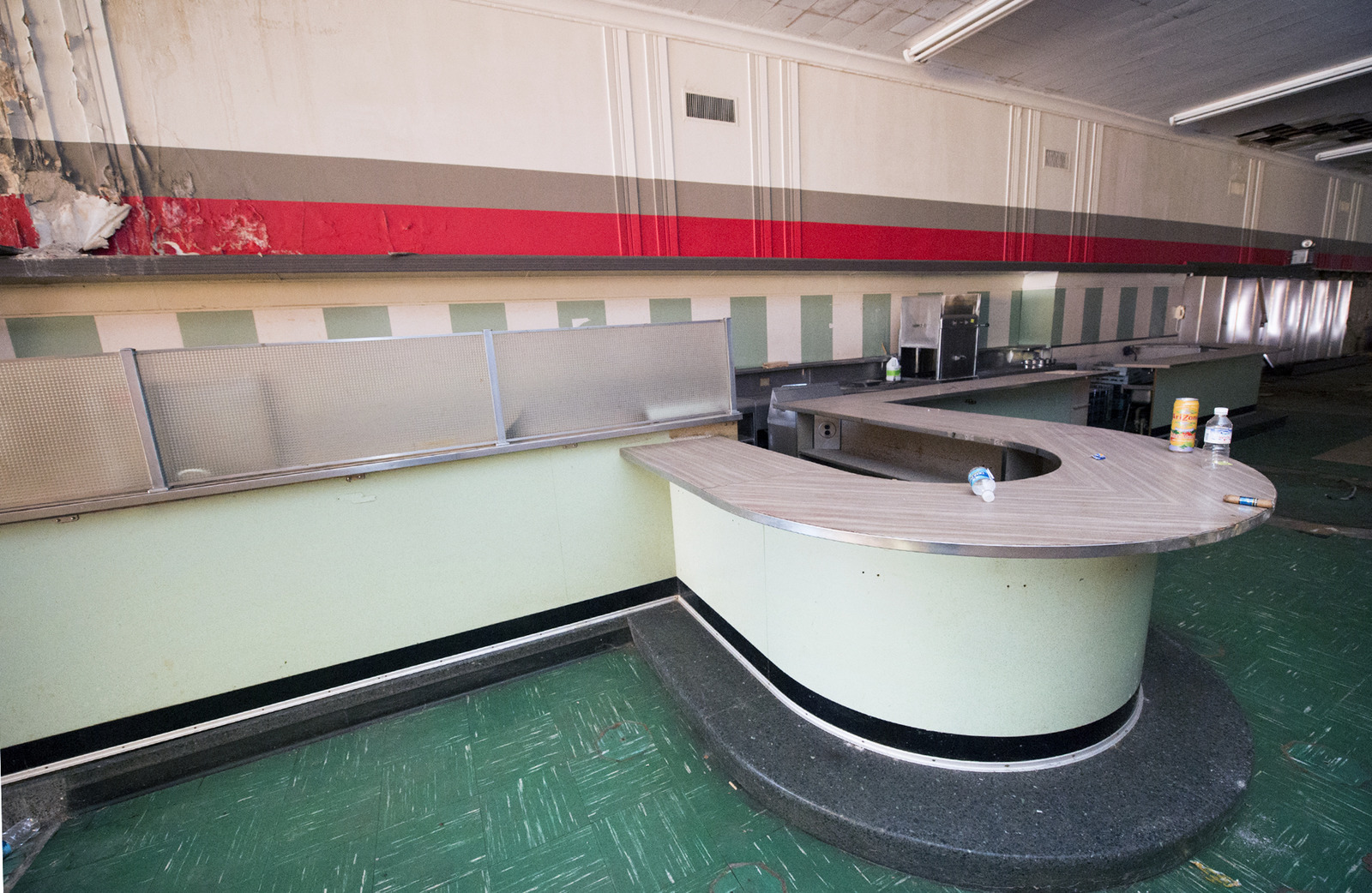The lunch counter is still mostly intact at the former Woolworth building in the first block of West Market Street in York Tuesday September 22, 2015. Royal Square Development & Construction plans commercial space on the first floor and residential on the second floor. Paul Kuehnel - York Daily Record/ Sunday News