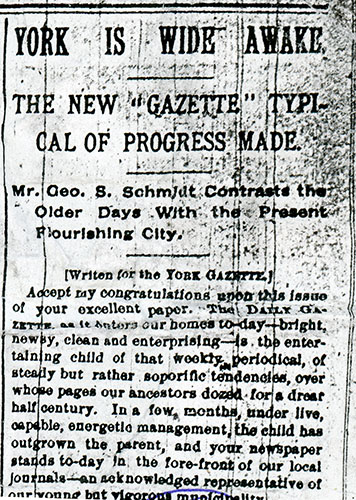 "New ""Gazette"" article from February 6, 1892."