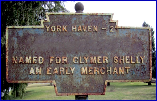 York County Keystone Mystery Marker with name of Town Removed from the Photograph (2013, S. H. Smith)