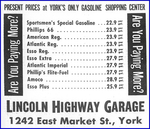 June 29, 1963 Lincoln Highway Garage ad in The Gazette and Daily