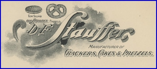 Part of D. F. Stauffer Bakery Letterhead from 1898 (S. H. Smith Collection)