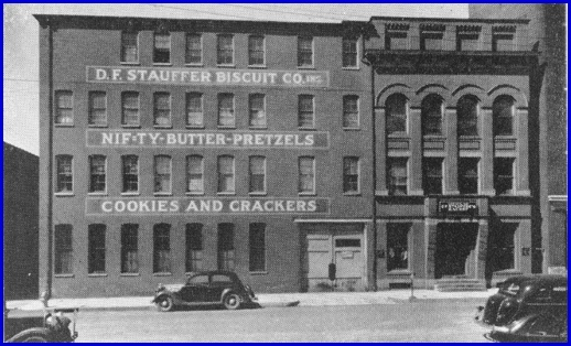D. F. Stauffer Biscuit Company at 21 West Princess Street (Source: January 1946 printing of The Story of a Dynamic Community, York Pennsylvania, by the York Chamber of Commerce, Page 200)